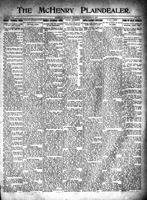 McHenry Plaindealer (McHenry, IL), 9 Sep 1915