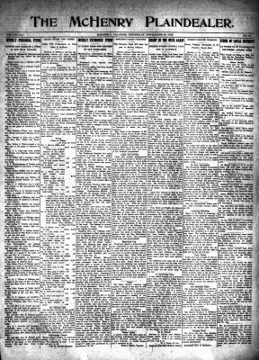 McHenry Plaindealer (McHenry, IL), 25 Nov 1915