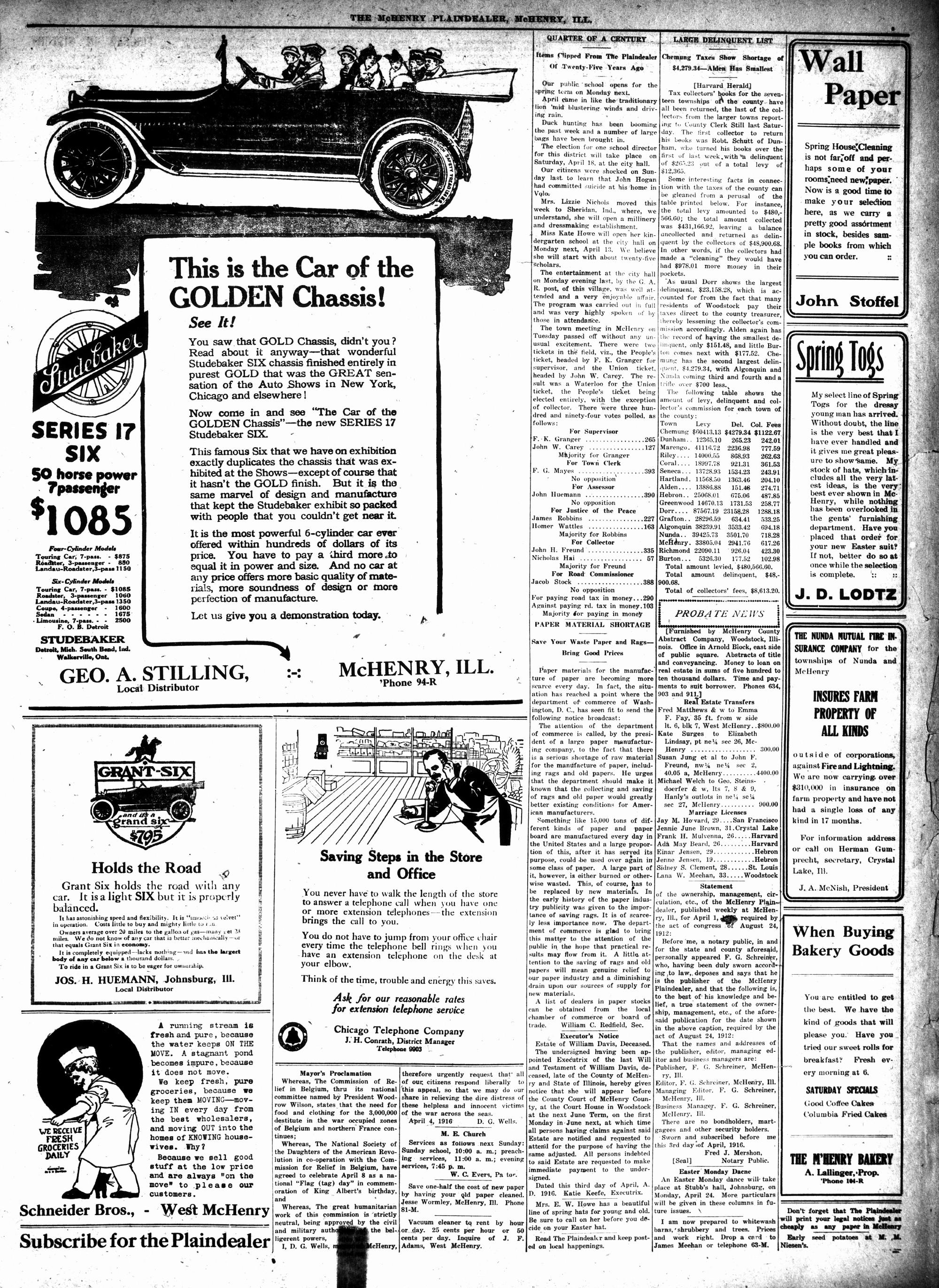 McHenry Plaindealer (McHenry, IL), 13 Apr 1916