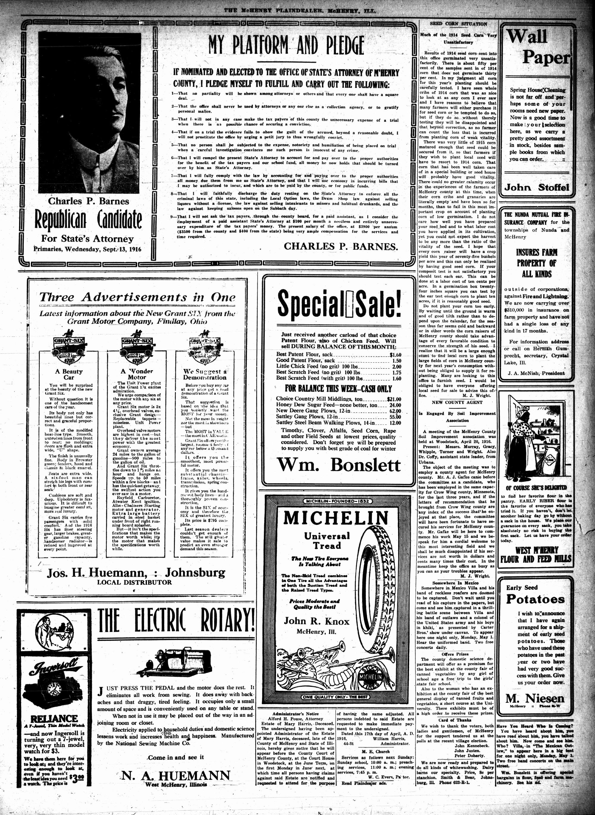 McHenry Plaindealer (McHenry, IL), 27 Apr 1916
