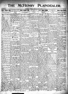McHenry Plaindealer (McHenry, IL), 18 May 1916