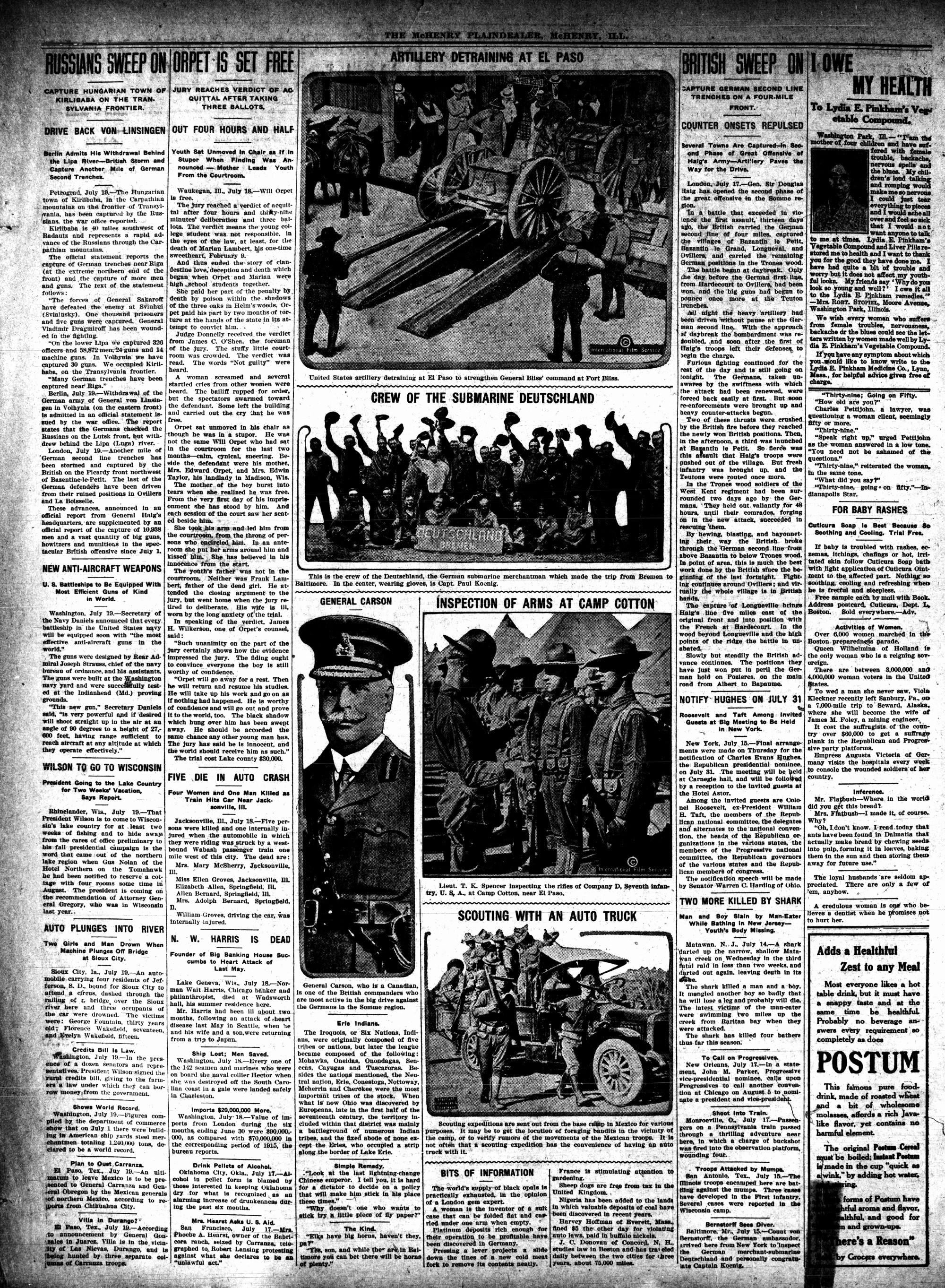 McHenry Plaindealer (McHenry, IL), 20 Jul 1916
