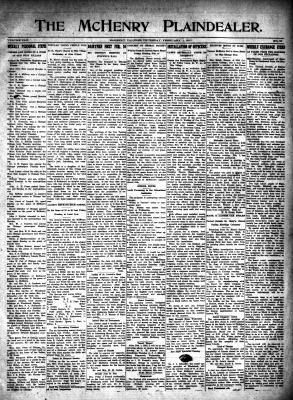 McHenry Plaindealer (McHenry, IL), 1 Feb 1917