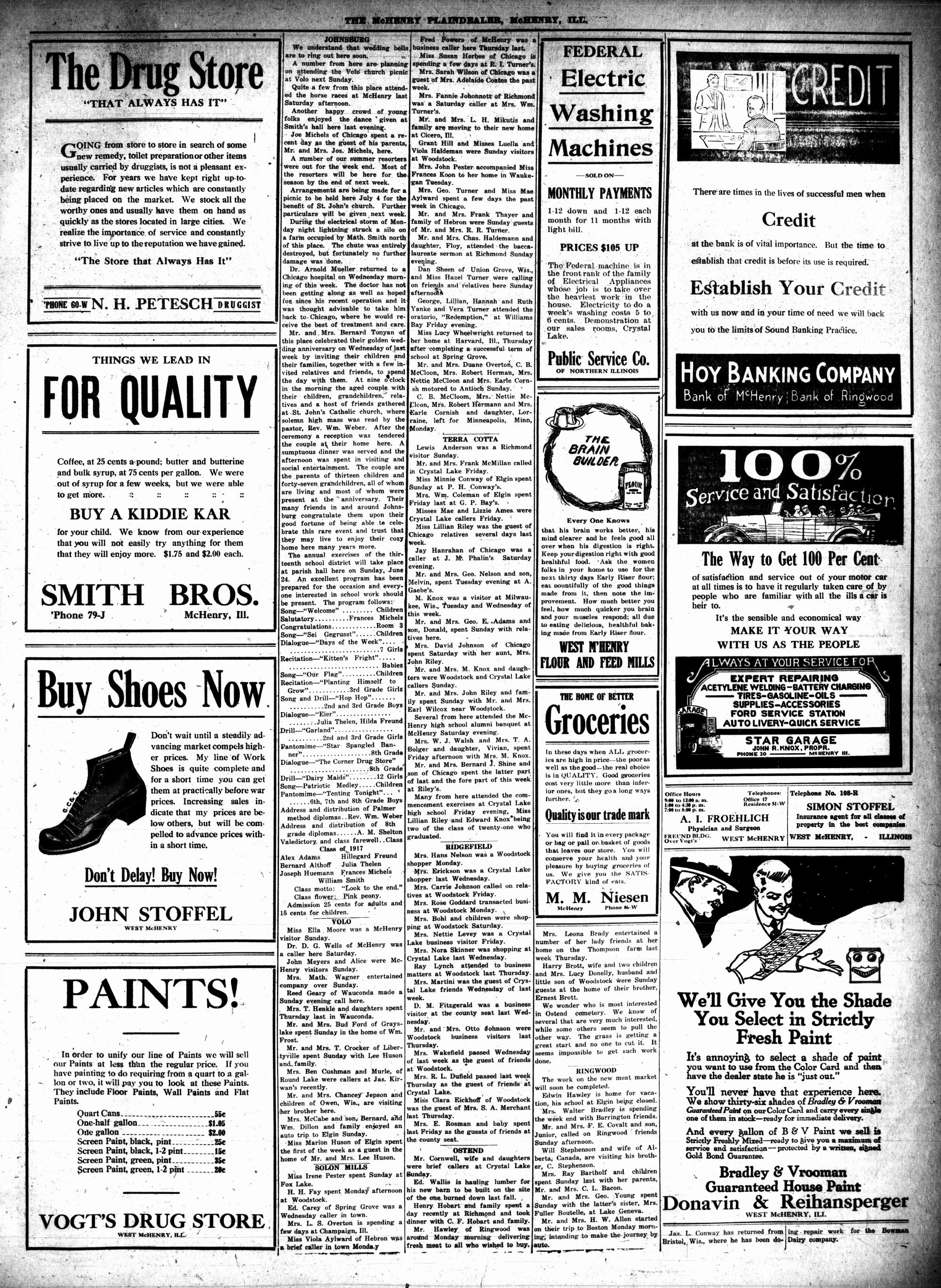McHenry Plaindealer (McHenry, IL), 14 Jun 1917