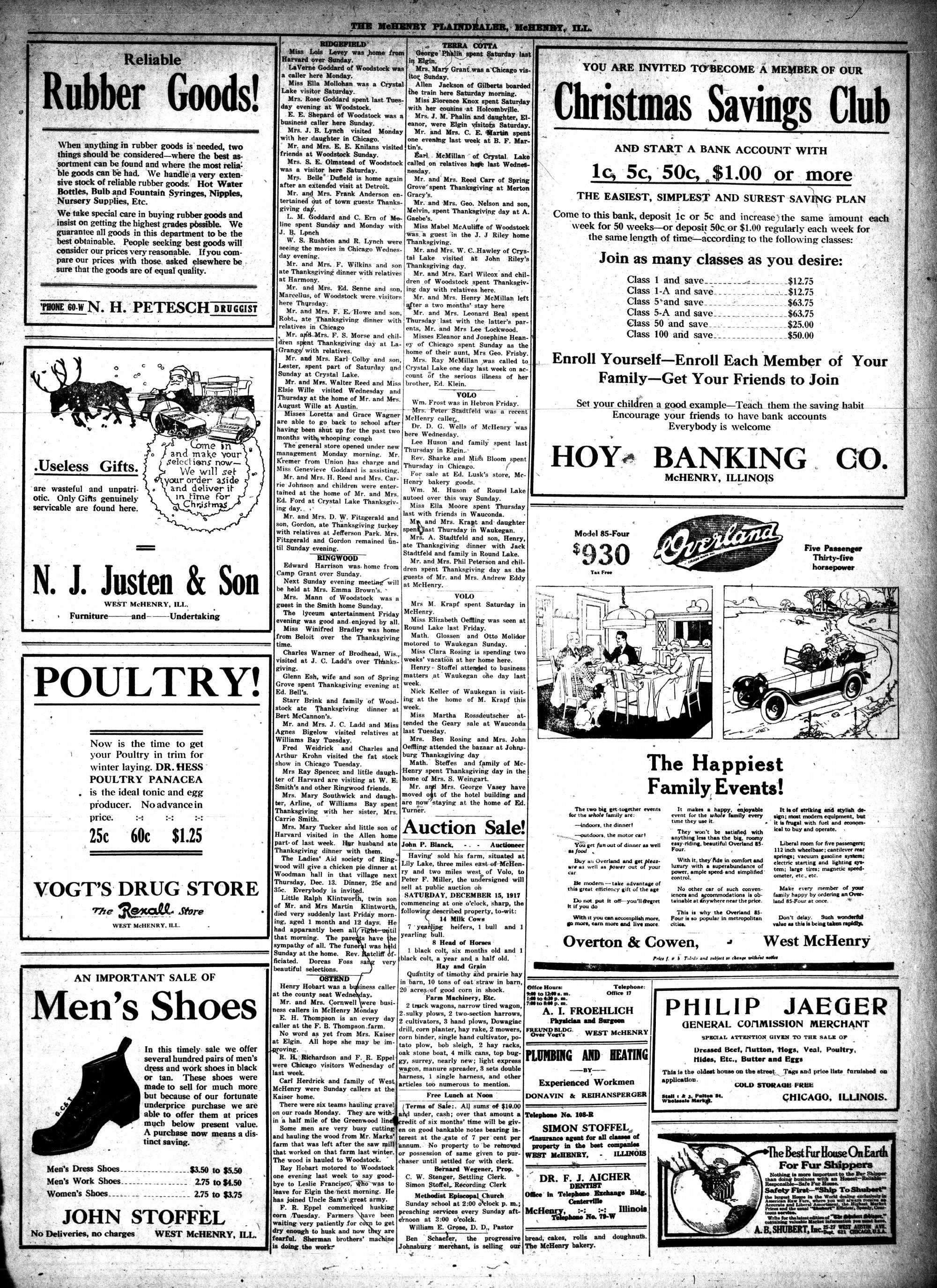 McHenry Plaindealer (McHenry, IL), 6 Dec 1917