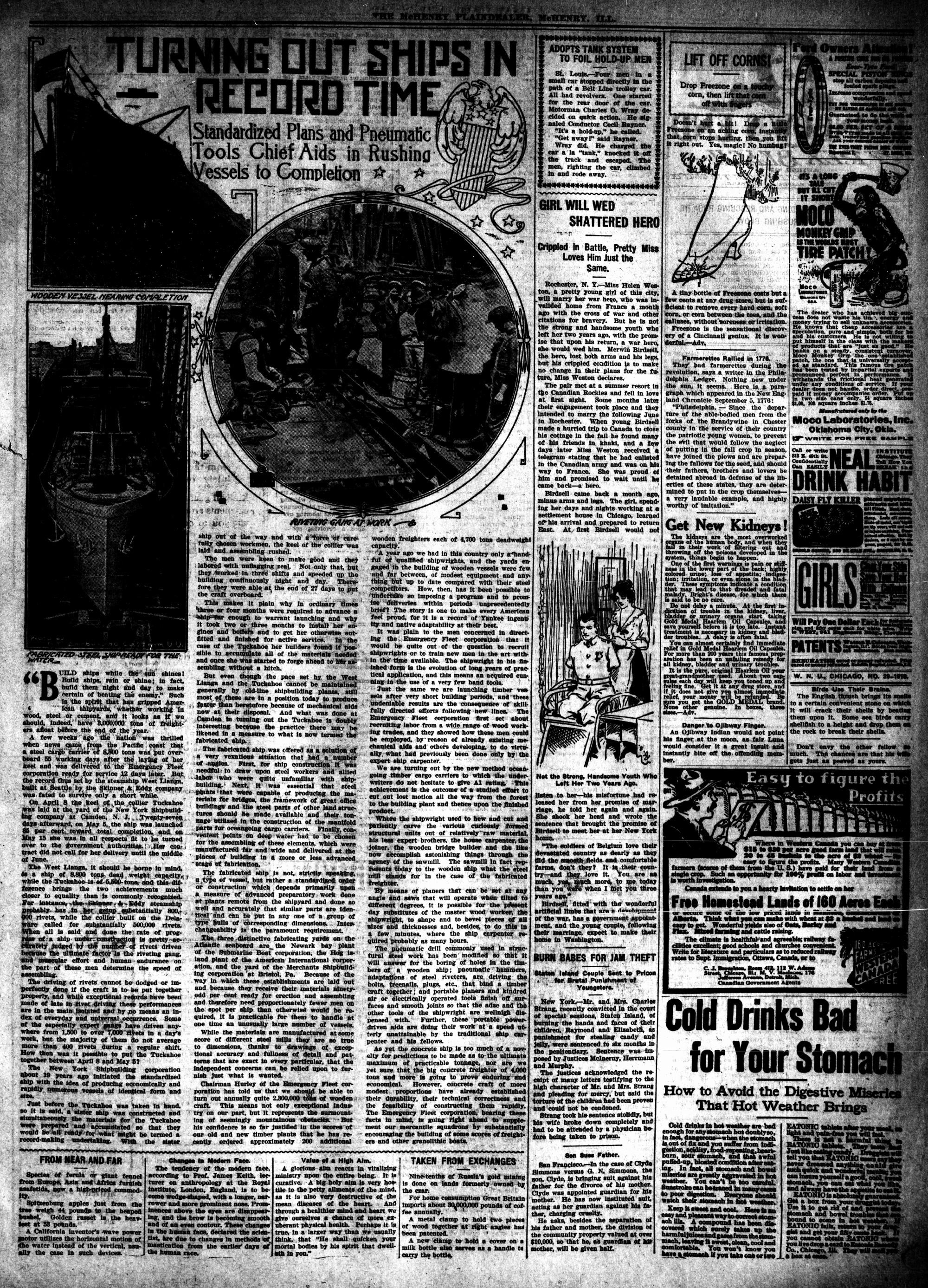 McHenry Plaindealer (McHenry, IL), 18 Jul 1918