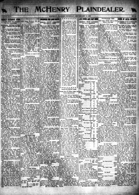McHenry Plaindealer (McHenry, IL), 12 Sep 1918