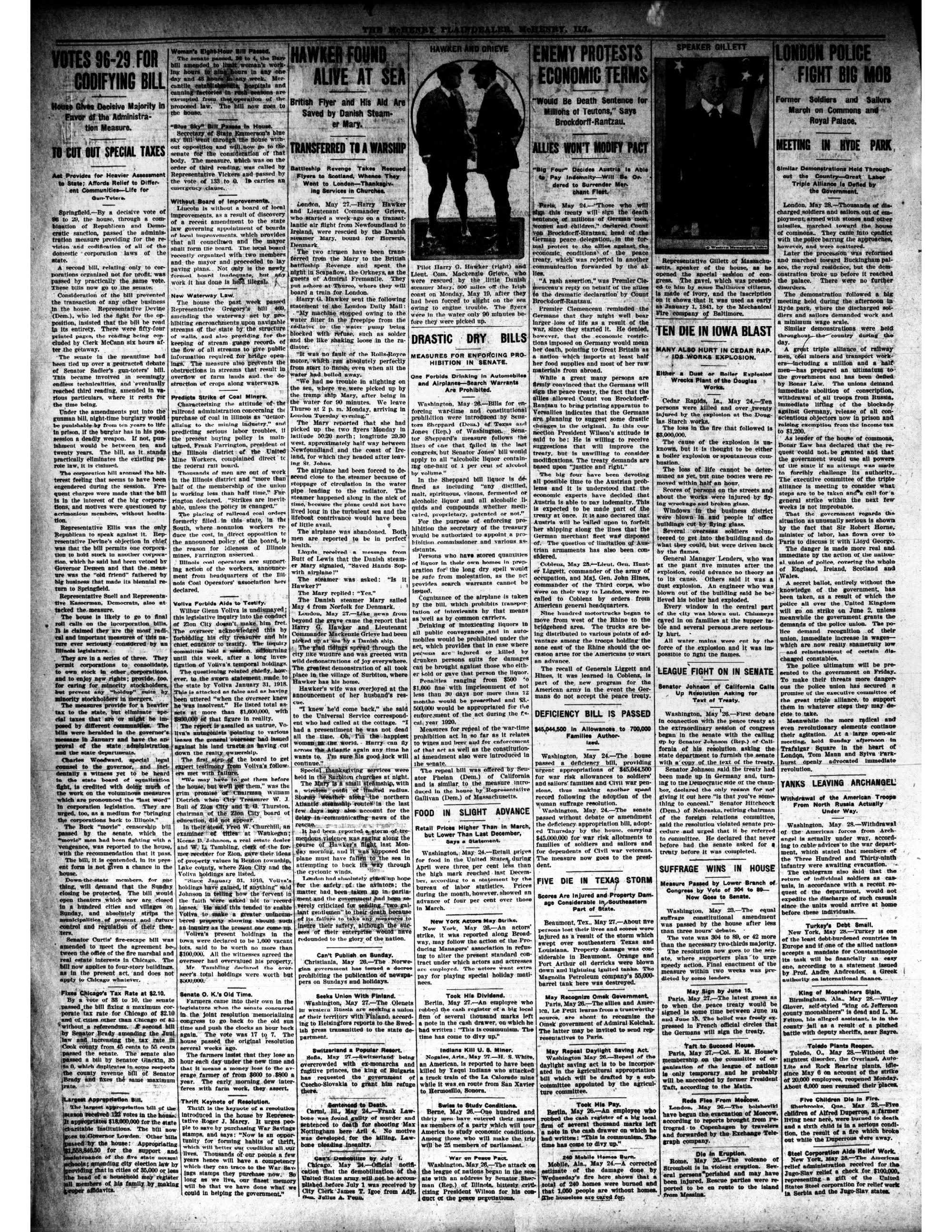 McHenry Plaindealer (McHenry, IL), 29 May 1919