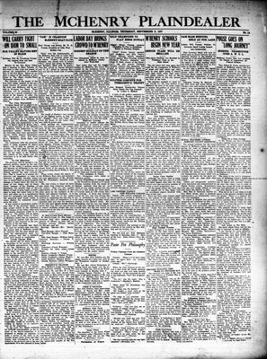 McHenry Plaindealer (McHenry, IL), 8 Sep 1927