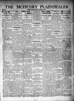 McHenry Plaindealer (McHenry, IL), 2 Feb 1928
