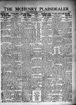 McHenry Plaindealer (McHenry, IL), 1 Nov 1928