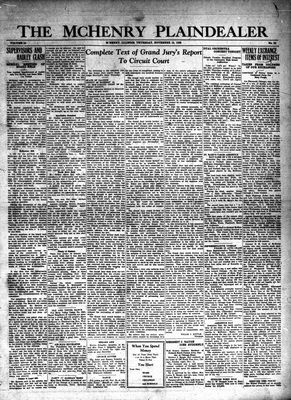 McHenry Plaindealer (McHenry, IL), 15 Nov 1928