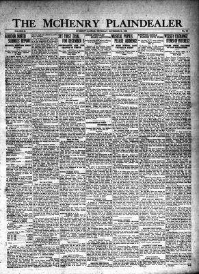 McHenry Plaindealer (McHenry, IL), 22 Nov 1928