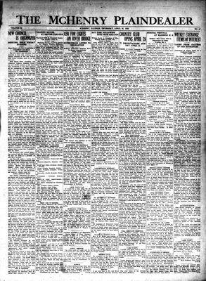McHenry Plaindealer (McHenry, IL), 25 Apr 1929