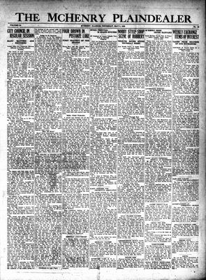 McHenry Plaindealer (McHenry, IL), 9 May 1929