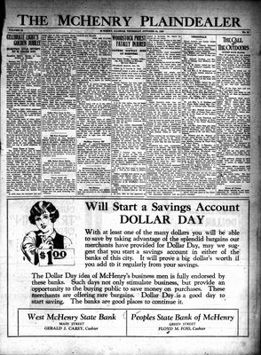 McHenry Plaindealer (McHenry, IL), 24 Oct 1929
