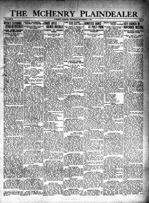 McHenry Plaindealer (McHenry, IL), 7 Nov 1929