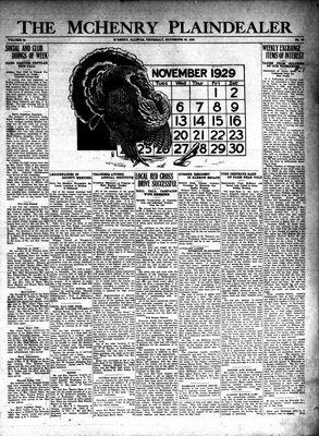 McHenry Plaindealer (McHenry, IL), 28 Nov 1929