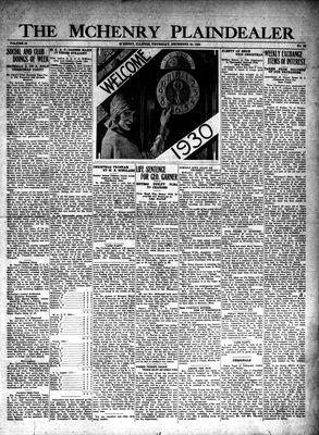 McHenry Plaindealer (McHenry, IL), 26 Dec 1929