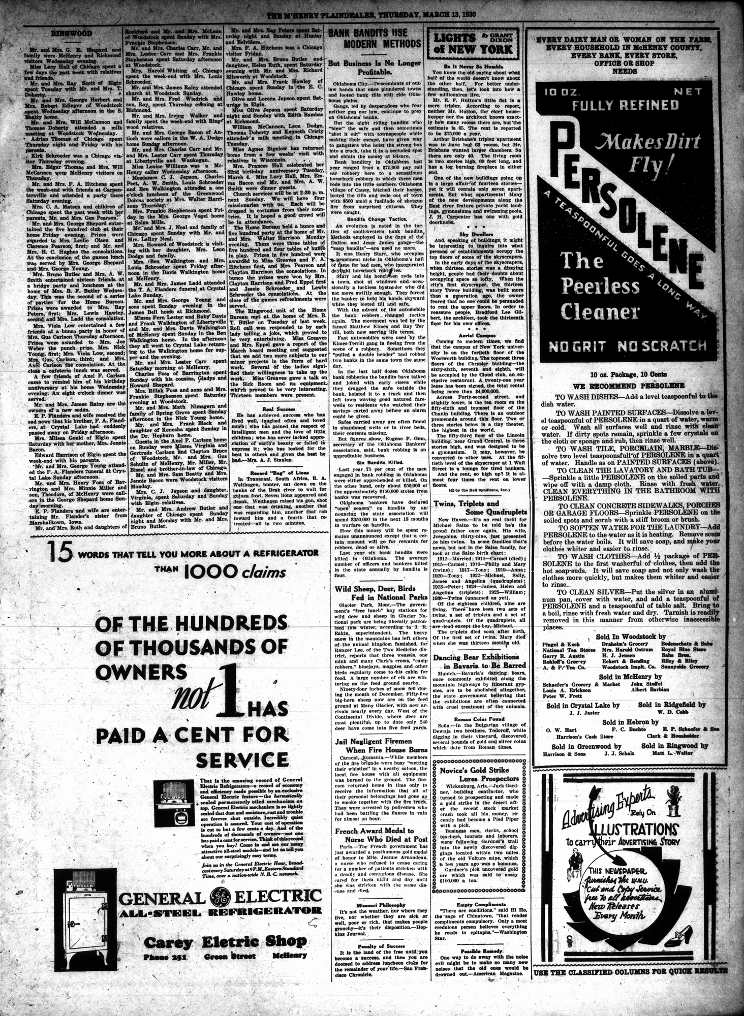 McHenry Plaindealer (McHenry, IL), 13 Mar 1930