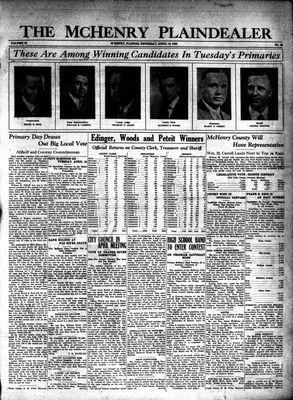 McHenry Plaindealer (McHenry, IL), 10 Apr 1930