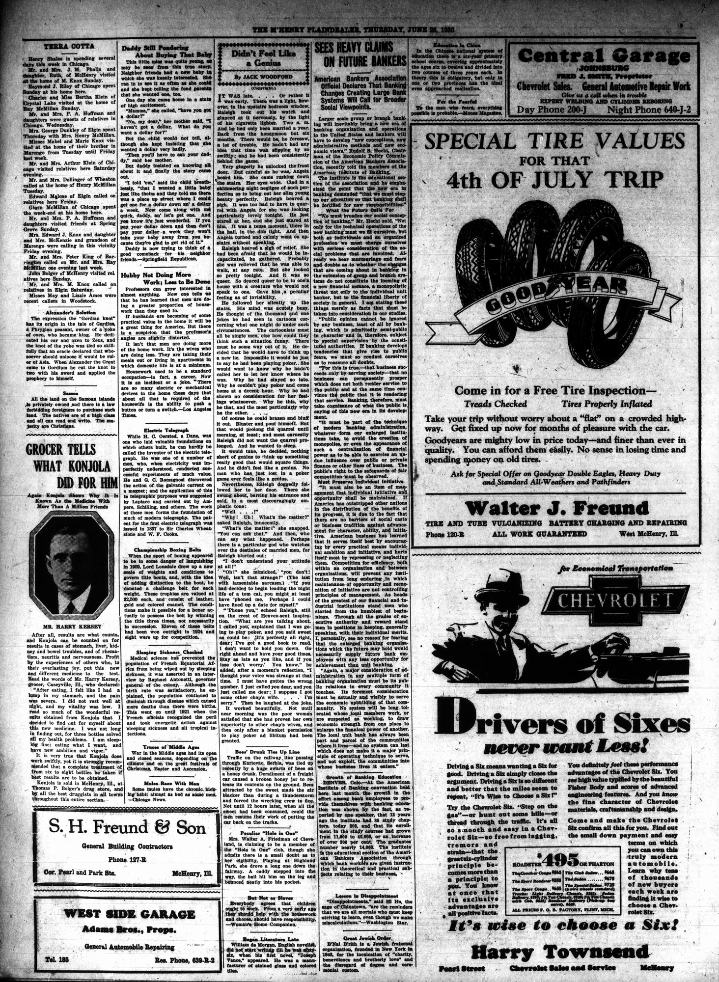 McHenry Plaindealer (McHenry, IL), 26 Jun 1930