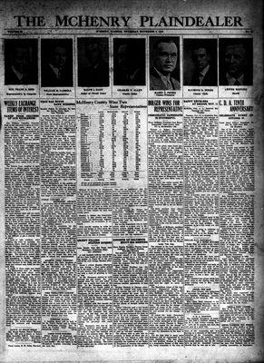 McHenry Plaindealer (McHenry, IL), 6 Nov 1930