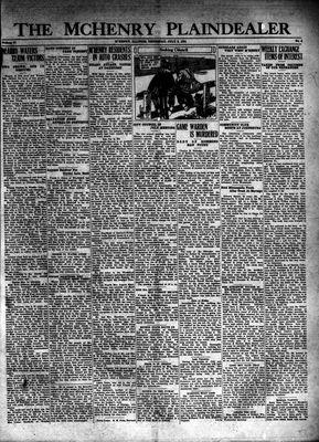 McHenry Plaindealer (McHenry, IL), 9 Jul 1931