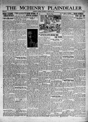 McHenry Plaindealer (McHenry, IL), 20 Aug 1931