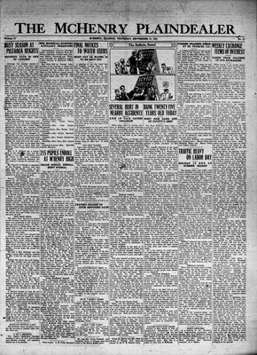 McHenry Plaindealer (McHenry, IL), 10 Sep 1931