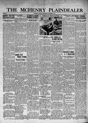 McHenry Plaindealer (McHenry, IL), 8 Oct 1931