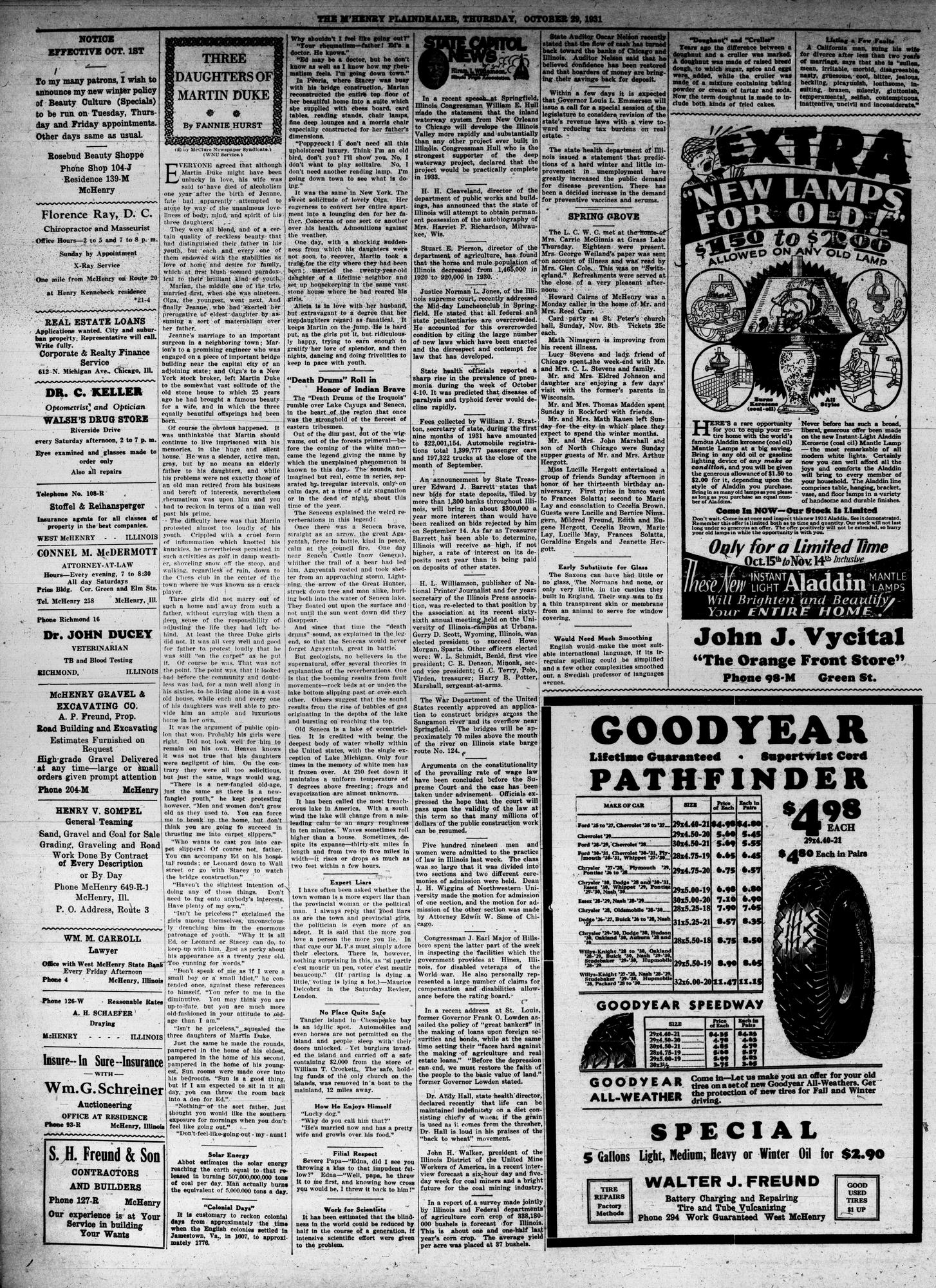 McHenry Plaindealer (McHenry, IL), 29 Oct 1931
