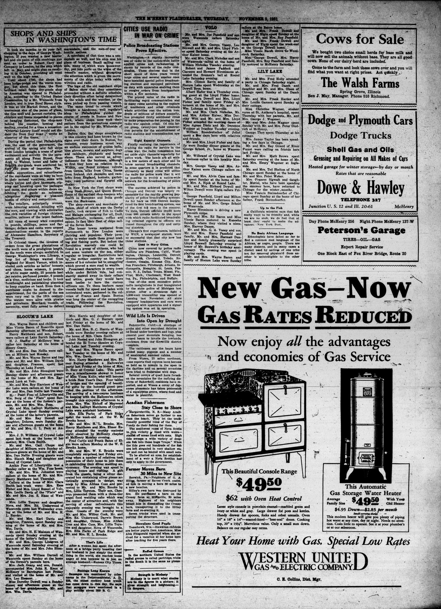 McHenry Plaindealer (McHenry, IL), 5 Nov 1931