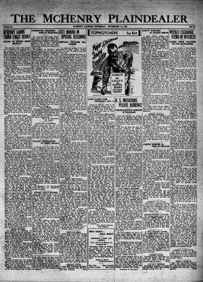 McHenry Plaindealer (McHenry, IL), 19 Nov 1931