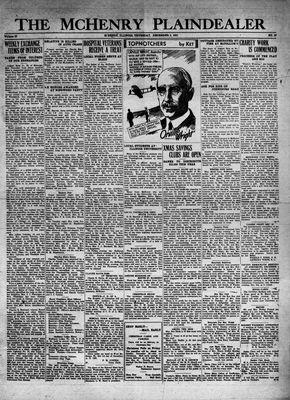McHenry Plaindealer (McHenry, IL), 5 Dec 1931