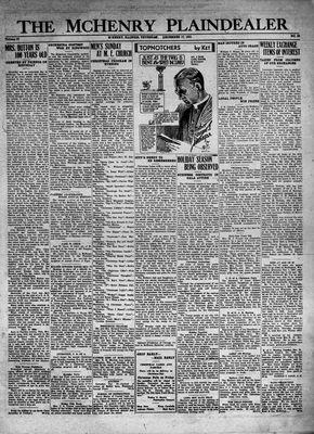 McHenry Plaindealer (McHenry, IL), 17 Dec 1931