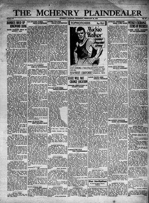 McHenry Plaindealer (McHenry, IL), 25 Feb 1932
