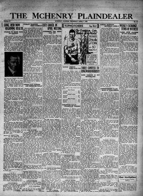 McHenry Plaindealer (McHenry, IL), 7 Apr 1932