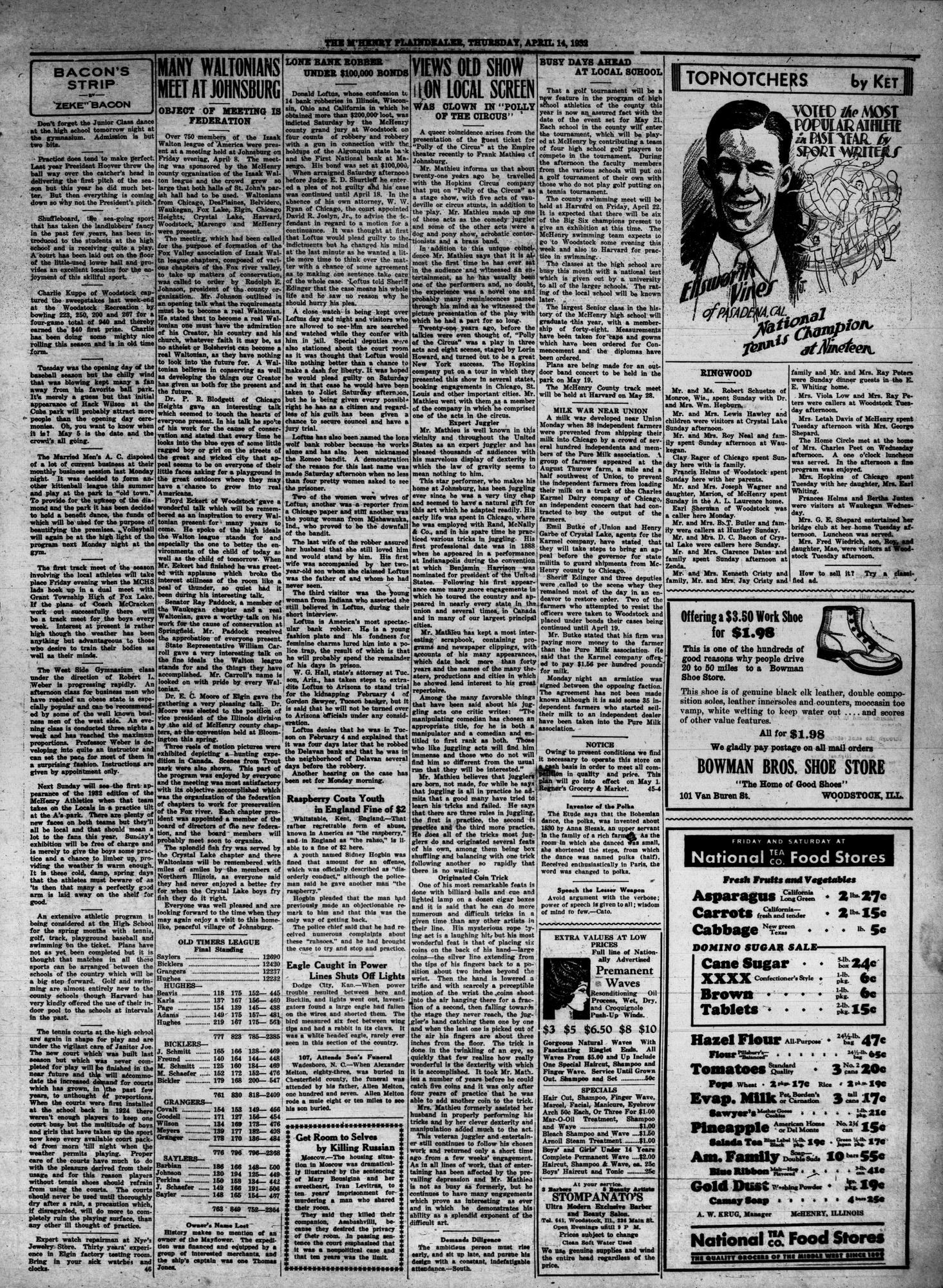 McHenry Plaindealer (McHenry, IL), 14 Apr 1932