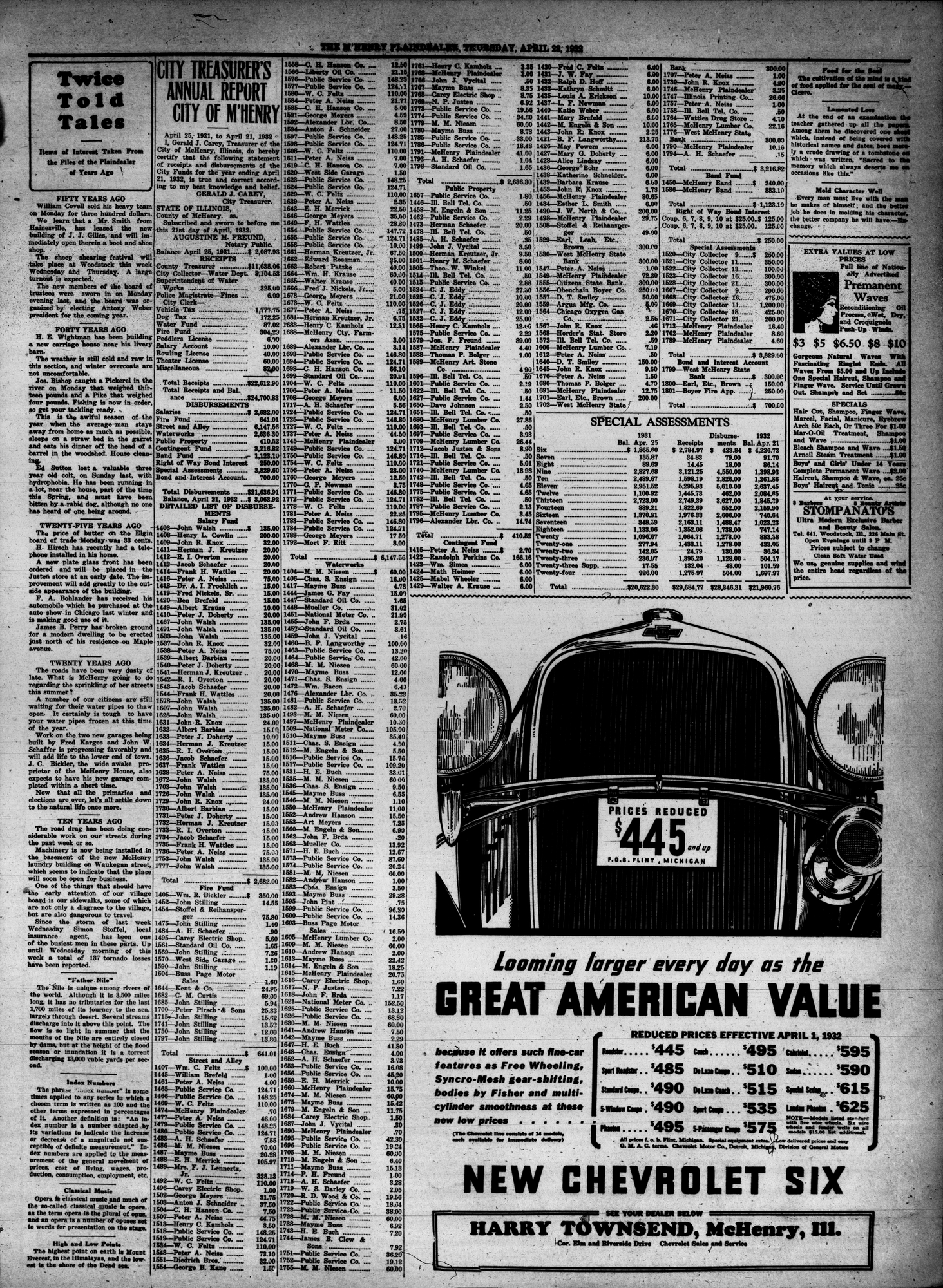 McHenry Plaindealer (McHenry, IL), 28 Apr 1932