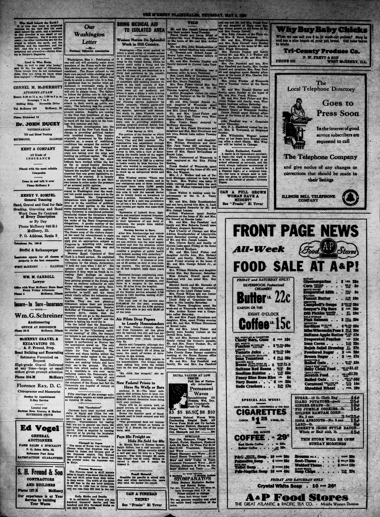 McHenry Plaindealer (McHenry, IL), 5 May 1932