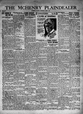 McHenry Plaindealer (McHenry, IL), 9 Jun 1932
