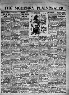 McHenry Plaindealer (McHenry, IL), 7 Jul 1932