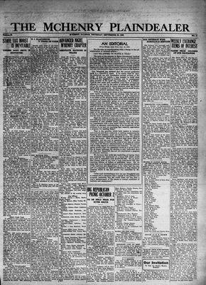 McHenry Plaindealer (McHenry, IL), 22 Sep 1932