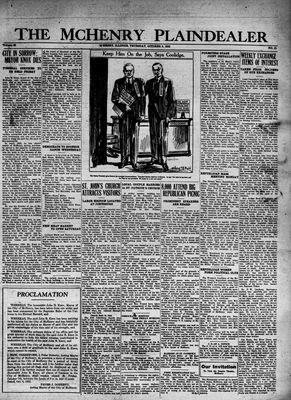 McHenry Plaindealer (McHenry, IL), 6 Oct 1932