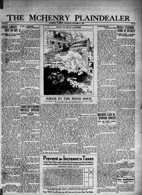 McHenry Plaindealer (McHenry, IL), 27 Oct 1932