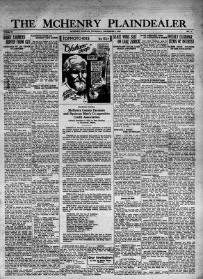 McHenry Plaindealer (McHenry, IL), 8 Dec 1932