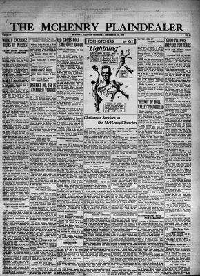 McHenry Plaindealer (McHenry, IL), 22 Dec 1932