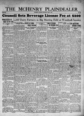 McHenry Plaindealer (McHenry, IL), 4 May 1933
