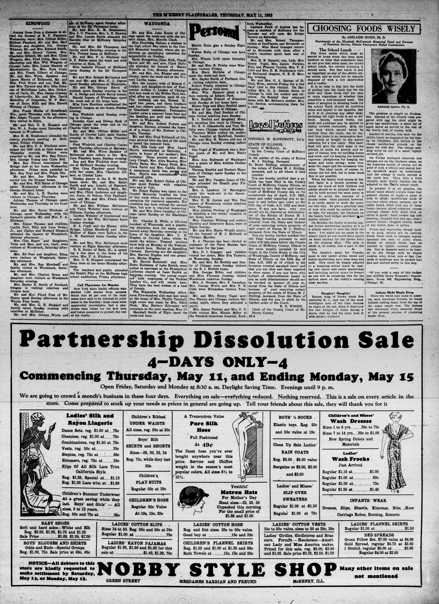 McHenry Plaindealer (McHenry, IL), 11 May 1933